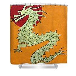 Asian Dragon Icon No. 1 Shower Curtain