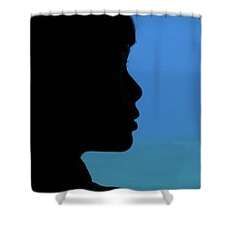 Mystery Woman Shower Curtain by John Janicki