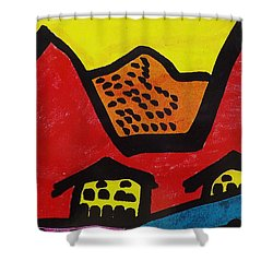 Asian Village  Shower Curtain