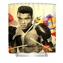 Asian Woman By Mohamed Ali In Brooklyn New York Shower Curtain by Funkpix Photo Hunter