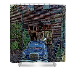 Asleep At The Wheel Shower Curtain