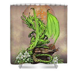 Shower Curtain featuring the digital art Asparagus Dragon by Stanley Morrison