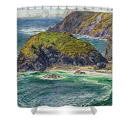 Asparagus Island Shower Curtain by William Holman Hunt