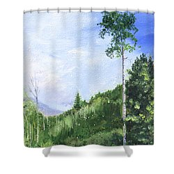 Aspen Heaven Shower Curtain
