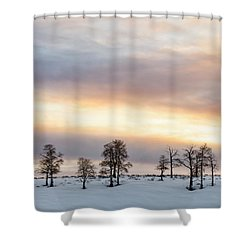 Aspen Hill At Sunset Shower Curtain