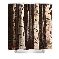 Shower Curtain featuring the painting Aspen Stand by Phyllis Howard