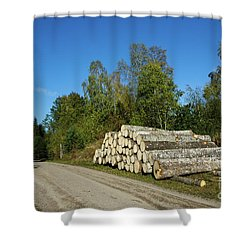 Shower Curtain featuring the photograph Aspen Timber by Kennerth and Birgitta Kullman