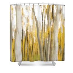 Shower Curtain featuring the photograph Aspens 2 by Alex Lapidus