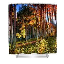 Shower Curtain featuring the photograph Aspens Of The West Elk Mountains by John De Bord