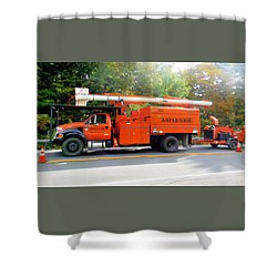 Asplundh Tree Expert Company Trucks Shower Curtain