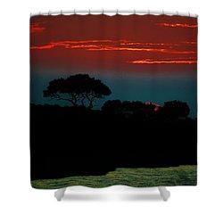 Assateague Dusk Shower Curtain by William Bartholomew