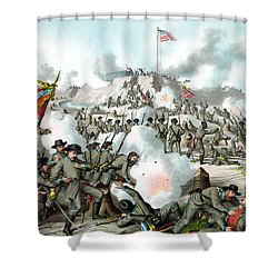 Assault On Fort Sanders Shower Curtain by War Is Hell Store