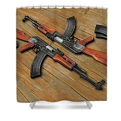Assault Rifle Shower Curtain