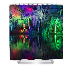 Assembly Dragon Cave Shower Curtain by Wade Aiken