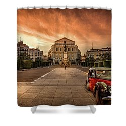 Assignation Shower Curtain by Marty Garland
