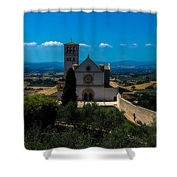 Assisi-basilica Di San Francesco Shower Curtain