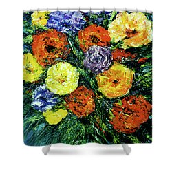 Assorted Flowers #191 Shower Curtain by Donald k Hall