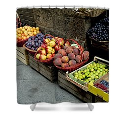 Assorted Fresh Fruits Of Berries Shower Curtain by Todd Gipstein