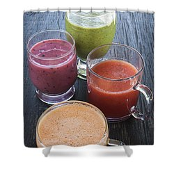 Assorted Smoothies Shower Curtain by Elena Elisseeva
