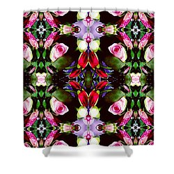Assortment Of Flower  Shower Curtain