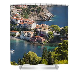 Shower Curtain featuring the photograph Assos In Greece by Rob Hemphill