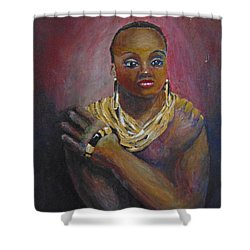 Shower Curtain featuring the painting Assured by Saundra Johnson
