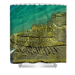Assyrian Warship Shower Curtain