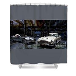 Aston Martin Db5 Db11 Shower Curtain