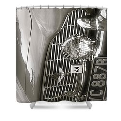 Aston Martin Db5 Smart Phone Case Shower Curtain by John Colley