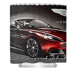 Aston Martin Vanquish Volante  Shower Curtain