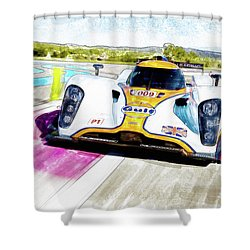 Shower Curtain featuring the painting Aston Martin Vantage 009 by Michael Cleere