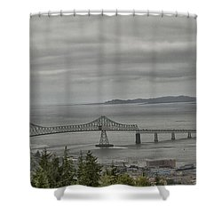 Shower Curtain featuring the photograph Astoria, Gateway To Oregon by Tom Kelly