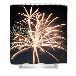 Astoria Park Fireworks 2 Shower Curtain by Jim Poulos