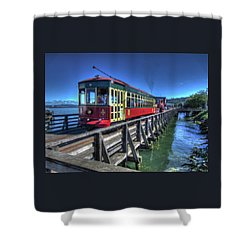 Astoria Riverfront Trolley Shower Curtain