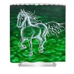 Astral Horse Shower Curtain