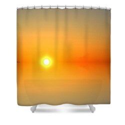 Shower Curtain featuring the photograph Astral Sunrise  by Lyle Crump