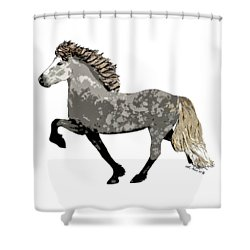 Shower Curtain featuring the painting Astrid by Shari Nees