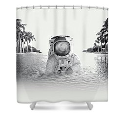 Astronaut Shower Curtain by Fran Rodriguez