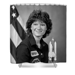 Astronaut Sally Ride  Shower Curtain by War Is Hell Store
