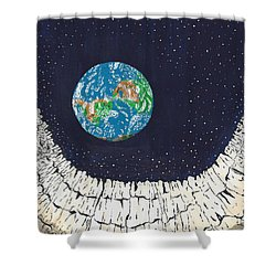 Astronaut's Point Of View Shower Curtain