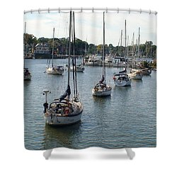At Anchor Shower Curtain by Charles Kraus