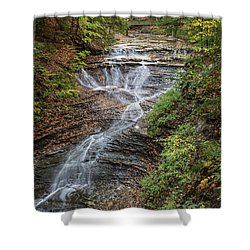 Shower Curtain featuring the photograph At Bridal Veil Falls by Dale Kincaid