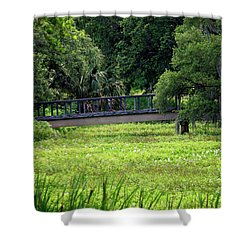Shower Curtain featuring the photograph At City Park 2 by Nicholas Blackwell