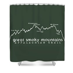 At Elevation Profile Gsm White Shower Curtain by Heather Applegate