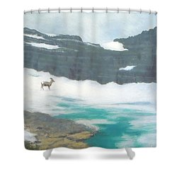 At Grinnell Glacier Shower Curtain