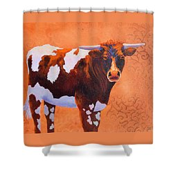 At Home On The Range Shower Curtain by Nancy Jolley