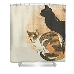 Shower Curtain featuring the painting At La Bodiniere by Theophile Alexandre Steinlen