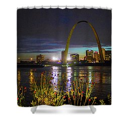 At Louis At Night Shower Curtain by Garry McMichael