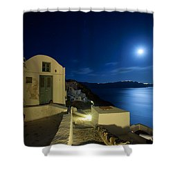 At Midnight Shower Curtain by Aiolos Greek Collections