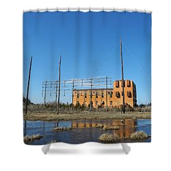 At N T Long Lines Historic Site Shower Curtain by Sami Martin